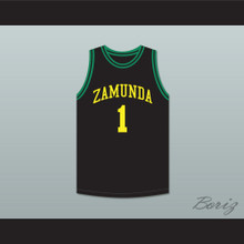 Prince Akeem Joffer 1 Fictional African Country Black Basketball Jersey