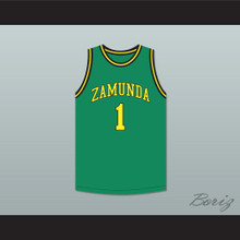 Prince Akeem Joffer 1 Fictional African Country Green Basketball Jersey
