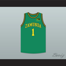 Prince Akeem Joffer 1 Fictional African Country Green Basketball Jersey with Flag Patch