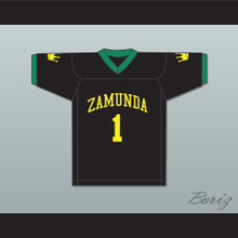 Prince Akeem Joffer 1 Fictional African Country Black Football Jersey