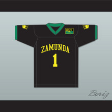 Prince Akeem Joffer 1 Fictional African Country Black Football Jersey with Flag Patch