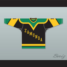 Prince Akeem Joffer 1 Fictional African Country Black Hockey Jersey
