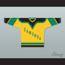Prince Akeem Joffer 1 Fictional African Country Yellow Hockey Jersey