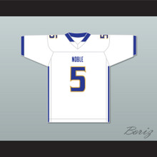 Ronnie Best 5 Noble Knights High School White Football Jersey The Turkey Bowl