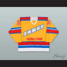 Alexei Yashkin 23 Khimik Voskresensk Yellow Hockey Jersey