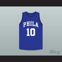 Joe Fulks 10 Philadelphia Warriors Blue Basketball Jersey 1
