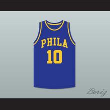 Joe Fulks 'Jumping Joe' 10 Philadelphia Warriors Blue Basketball Jersey 2
