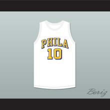 Joe Fulks 10 Philadelphia Warriors White Basketball Jersey 1