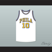Joe Fulks 'Jumping Joe' 10 Philadelphia Warriors White Basketball Jersey 2