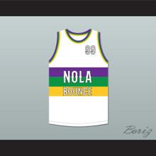 Big Freedia 99 NOLA Bounce White Basketball Jersey
