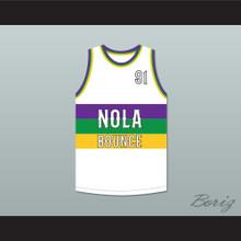 DJ Jubilee 91 NOLA Bounce White Basketball Jersey