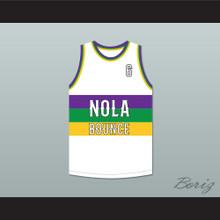 Hot Boy Ronald 6 NOLA Bounce White Basketball Jersey