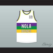 Juvenile 26 NOLA Bounce White Basketball Jersey