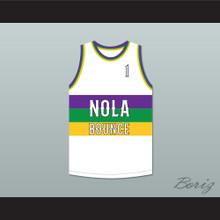 MC T. Tucker 1 NOLA Bounce White Basketball Jersey