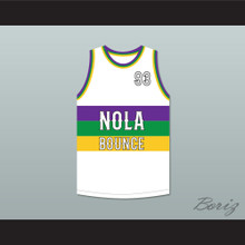 Partners-N-Crime 93 NOLA Bounce White Basketball Jersey