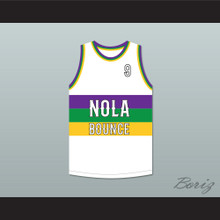 Sissy Nobby 9 NOLA Bounce White Basketball Jersey