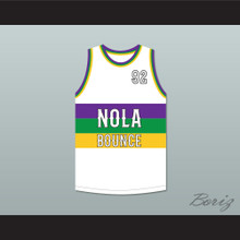 U.N.L.V. 92 NOLA Bounce White Basketball Jersey