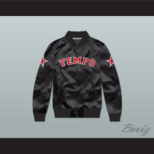 Missy Elliott Tempo Black Varsity Letterman Satin Bomber Jacket