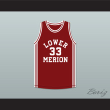 Kobe Bryant 33 Lower Merion High School Aces Maroon Basketball Jersey 2