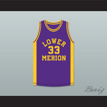Kobe Bryant 33 Lower Merion High School Aces Purple Basketball Jersey 4