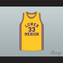 Kobe Bryant 33 Lower Merion High School Aces Yellow Basketball Jersey 1