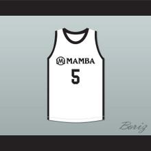 Alyssa 5 Mamba Ballers White Basketball Jersey