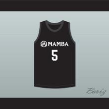 Alyssa 5 Mamba Ballers Black Basketball Jersey