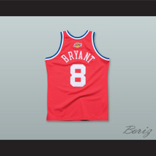 K. Bryant 8 2003 All Star Red Basketball Jersey