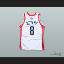 K. Bryant 8 2004 All Star White Basketball Jersey