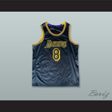 K. Bryant 8 Los Angeles Black Basketball Jersey with League Logo Tribute Patch