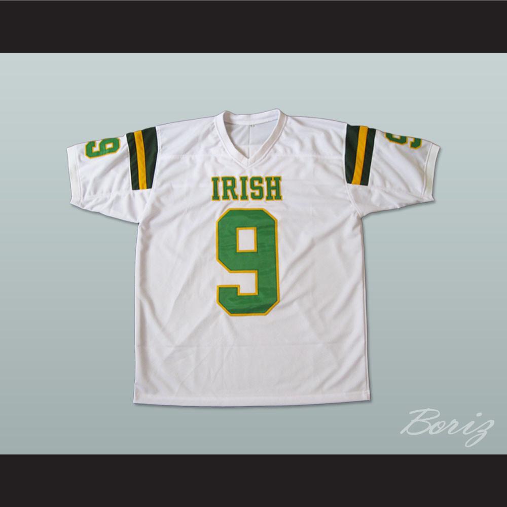 54b11652e Lebron James 9 Fighting Irish High School Football Jersey White. Price    55.99. Image 1