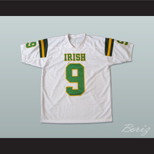 Lebron James 9 Fighting Irish High School Football Jersey White