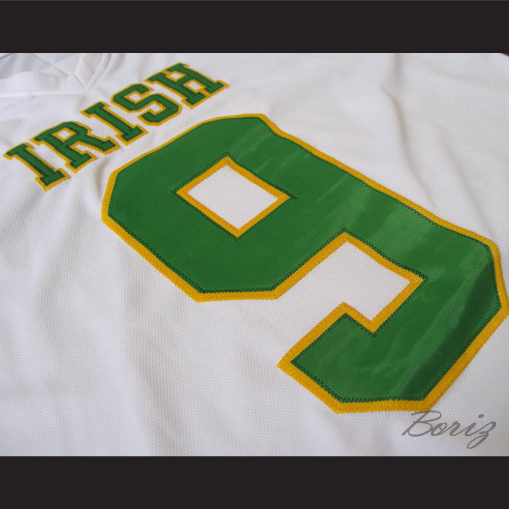 80e4fdc802e1 Lebron James 9 Fighting Irish High School Football Jersey White. Price    55.99. Image 1. Larger   More Photos