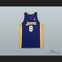 K. Bryant 8 Los Angeles Purple Modern Basketball Jersey with League Logo Tribute Patch