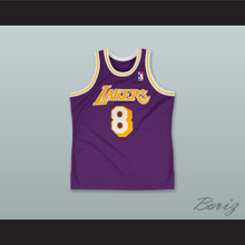 K. Bryant 8 Los Angeles Purple Retro Basketball Jersey with League Logo Tribute Patch