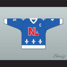 Robert Martin 45 Le National de Québec Blue Hockey Jersey- Lance et compte (He Shoots, He Scores)