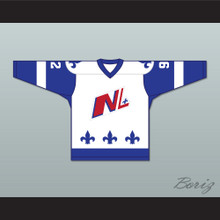 Alex Beauchesne 92 Le National de Quebec White Hockey Jersey- Lance et compte (He Shoots, He Scores)