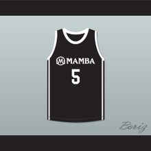 Alyssa 5 Mamba Ballers Black Basketball Jersey Version 2