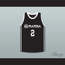 Gianna Bryant 2 Mamba Ballers Black Basketball Jersey Version 2