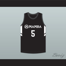 Alyssa 5 Mamba Ballers Black Basketball Jersey Version 3