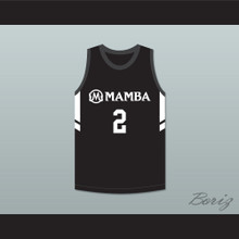 Gianna Bryant 2 Mamba Ballers Black Basketball Jersey Version 3