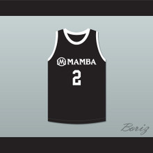 Gianna Bryant 2 Mamba Ballers Black Basketball Jersey Version 4