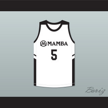 Alyssa 5 Mamba Ballers White Basketball Jersey Version 2