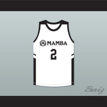 Gianna 2 Mamba Ballers White Basketball Jersey Version 2