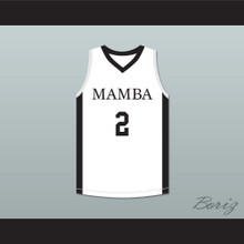 Gianna 2 Mamba Ballers White Basketball Jersey Version 3