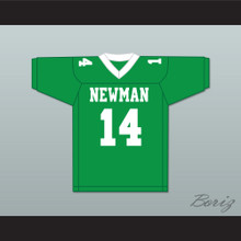 Player 14 Isidore Newman High School Green Football Jersey Version 1
