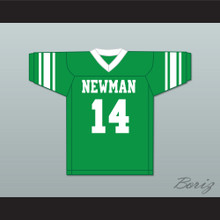 Player 14 Isidore Newman High School Green Football Jersey Version 3