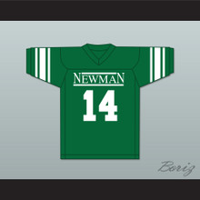 Player 14 Isidore Newman High School Dark Green Football Jersey Version 4
