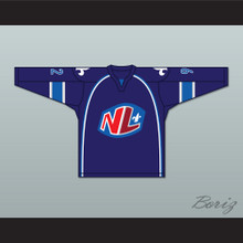 Alex Beauchesne 92 Le National de Quebec Home Hockey Jersey- Lance et compte (He Shoots, He Scores)