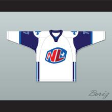 Francis Gagnon 77 Le National de Quebec Away Hockey Jersey- Lance et compte (He Shoots, He Scores)